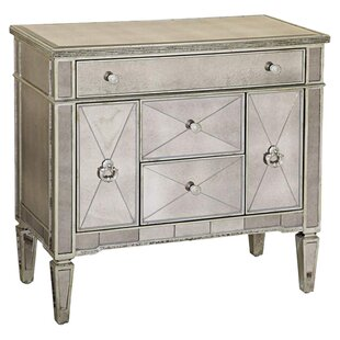 Roehl Mirrored 5 Drawer Chairside Cabinet