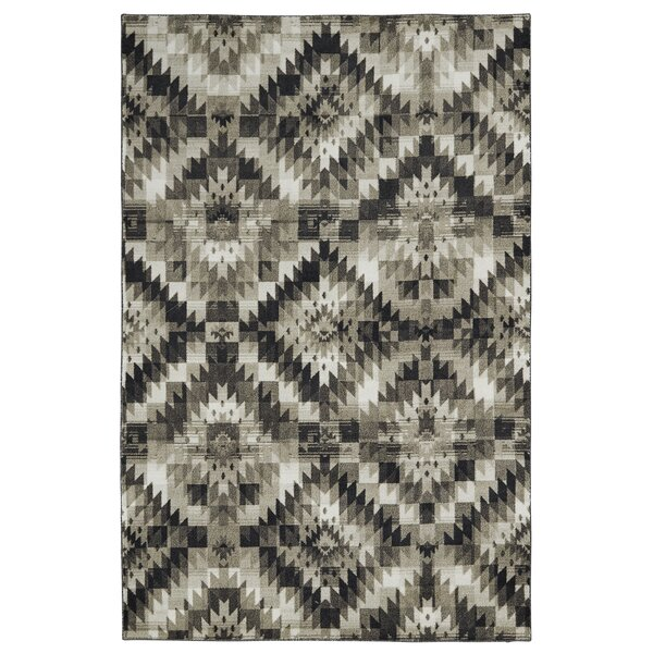 Eveleth Diamond Mirage Charcoal Area Rug by Bungalow Rose