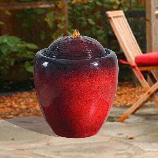 Resin Outdoor Pot Fountain with Light by Peaktop