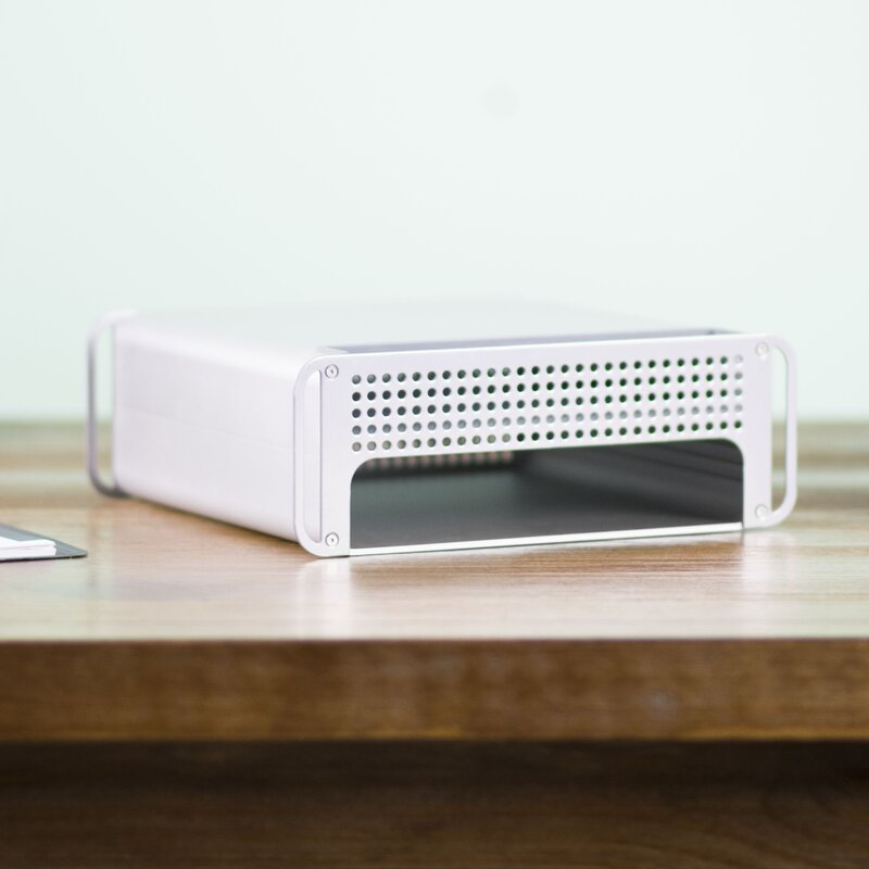 Adjustable Desktop Monitor Riser Stand And Storage