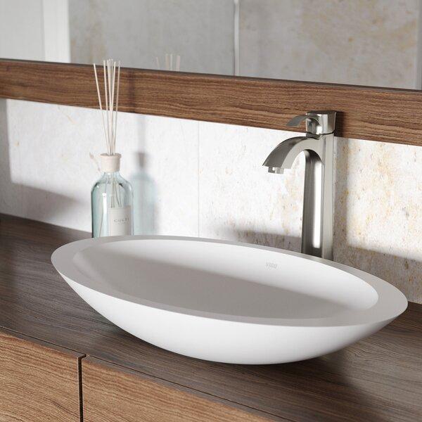 Matte Stone Oval Vessel Bathroom Sink by VIGO