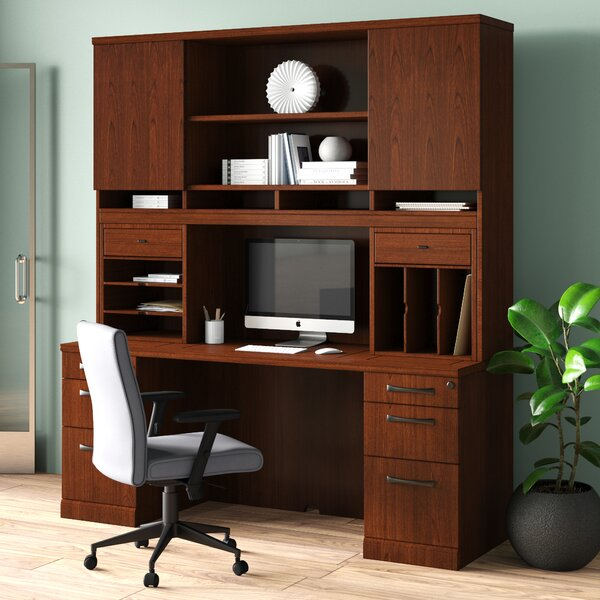 Updegraff Executive Desk with Hutch