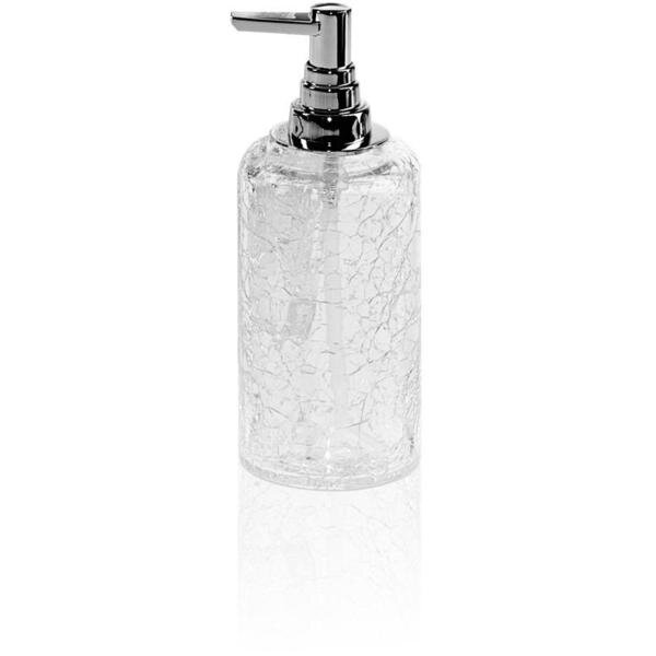 Soderquist Crackled Glass Table Soap & Lotion Dispenser by Orren Ellis