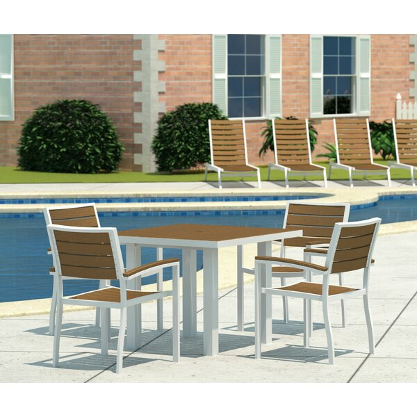 Euro 5 Piece Dining Set by POLYWOOD®