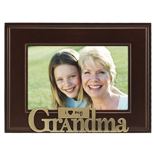 Grandma I Heart My Picture Frame by Malden