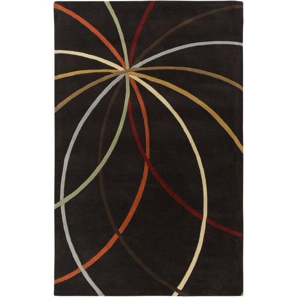 Dewald Chocolate Area Rug by Ebern Designs