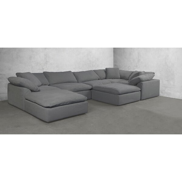 Sunset Trading Cloud Puff Slipcovered 7 Piece Modular Sectional By Latitude Run