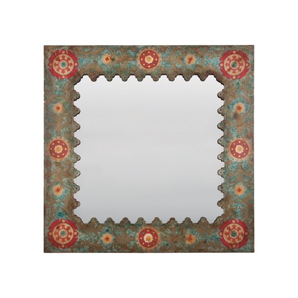 Painted Tin Accent Wall Mirror by Bungalow Rose