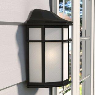 Best Price Spielman LED Outdoor Flush Mount By Charlton Home