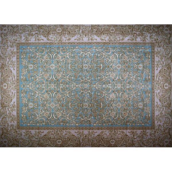 Nicol Hand Look Persian Wool Blue/Purple/Brown Area Rug
