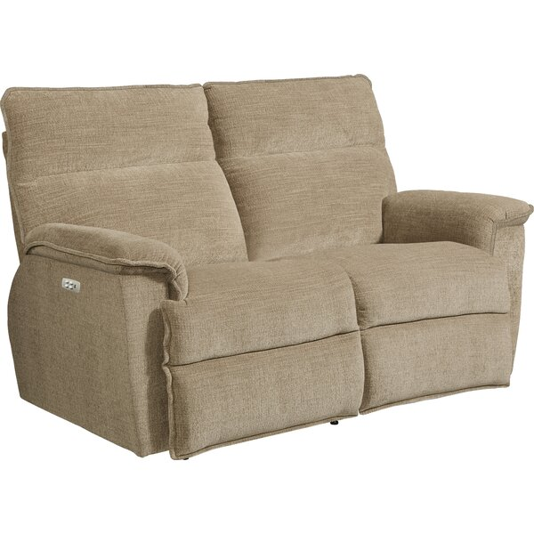 Jay La-Z-Time® Power-Recline with Power Headrest Full Reclining Loveseat by La-Z-Boy