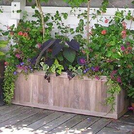 Teak Planter Box by Diamond Teak