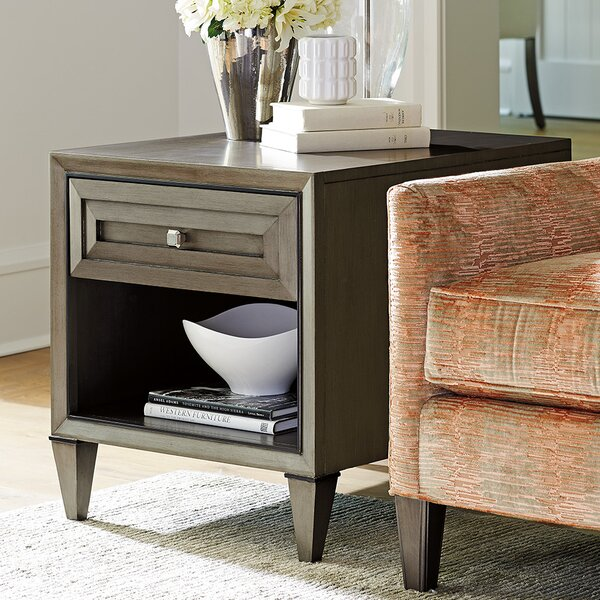 Ariana Verona Rectangular End Table with Storage by Lexington Lexington