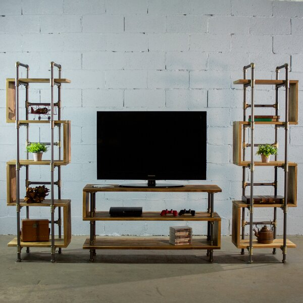 Elbert Modern Industrial Entertainment Center (Set of 3) by 17 Stories
