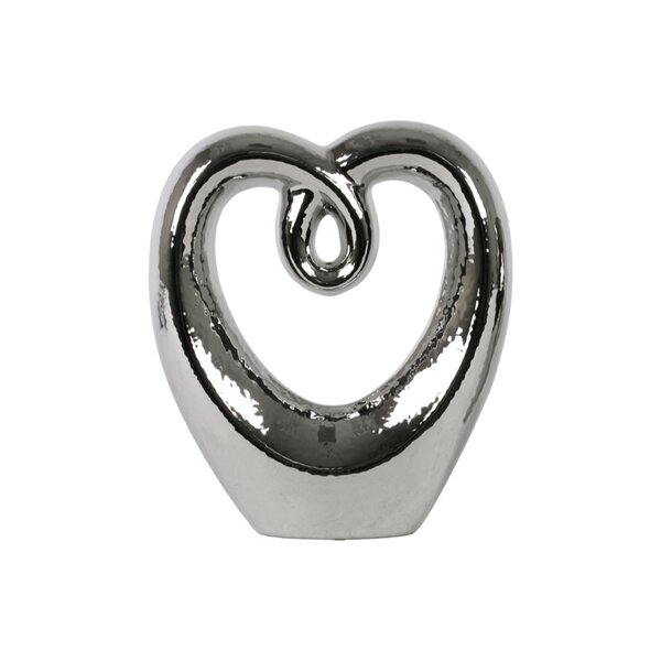 Collingwood Abstract Ceramic Heart Shape Sculpture by Orren Ellis
