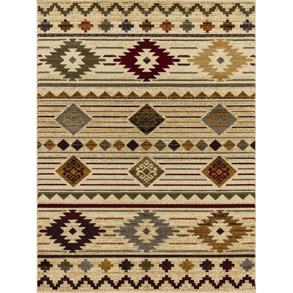 Alessio South Western Beige/Brown Area Rug by Millwood Pines