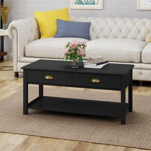 Gutierres Traditional Wooden Coffee Table with Storage Charlton Home