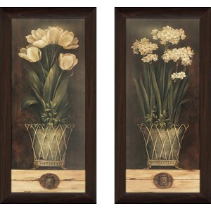 'Petit Jardin I' 2 Piece Framed Print Set by Red Barrel Studio