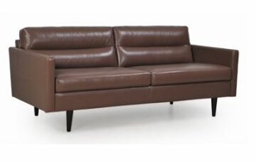 Kallistos Leather Loveseat by Brayden Studio