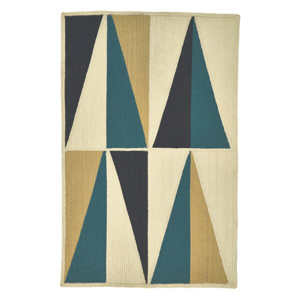 Carrington Indigo/Yellow/Black Indoor/Outdoor Area Rug by Wrought Studio