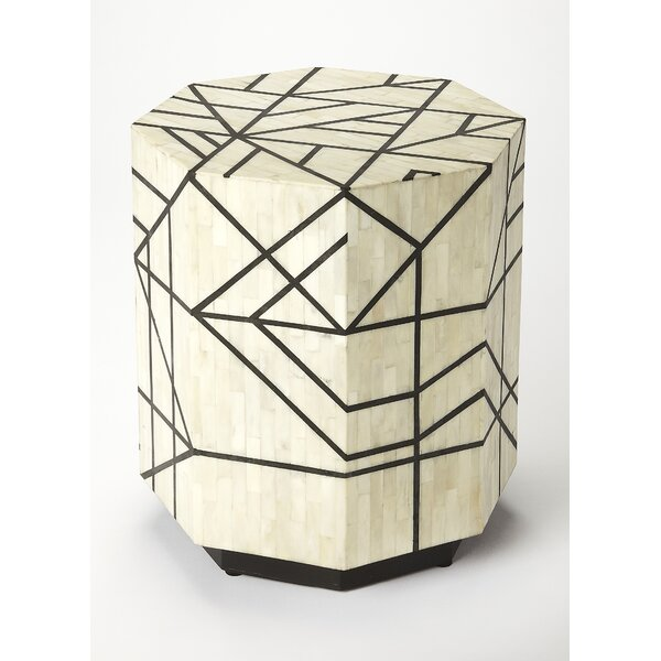 Aldridge Bone Inlay End Table by Brayden Studio