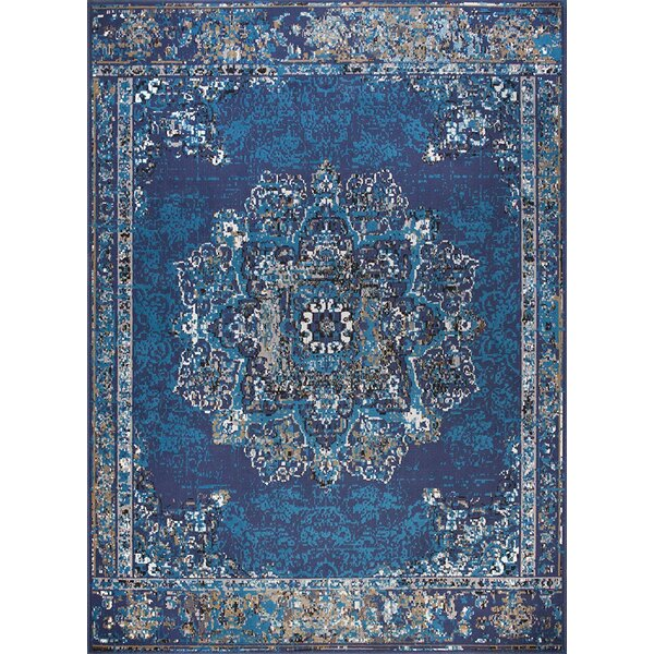 Schrader Blue Indoor/Outdoor Area Rug by World Menagerie