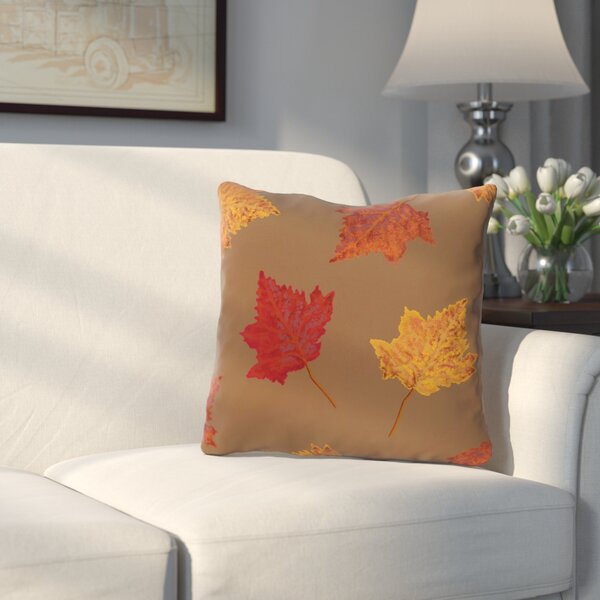 DeSales Dancing Leaves Floral Outdoor Throw Pillow by Three Posts