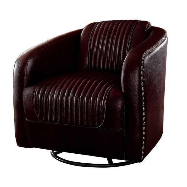 Connell Swivel Barrel Chair by Williston Forge