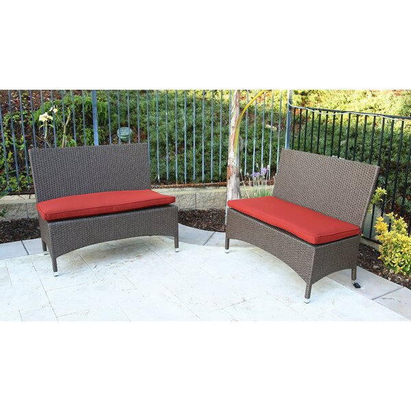 Inglestone Common Wicker Garden bench (Set of 2) by Brayden Studio