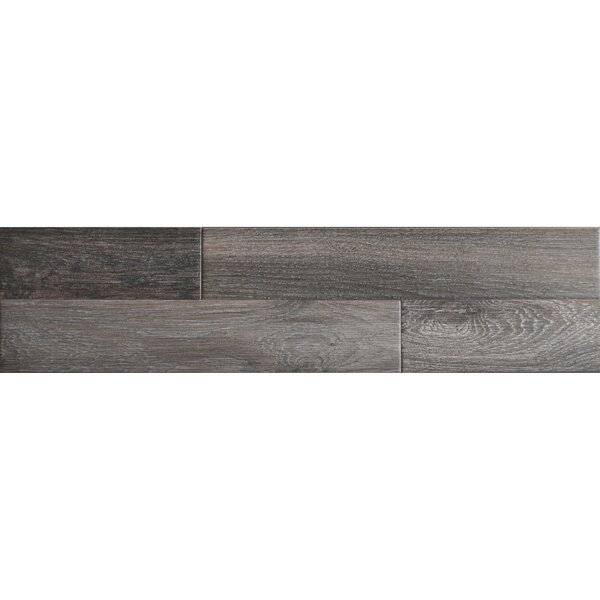 Madera 3 x 17 Porcelain Wood Look Tile in Soft Ash by The Bella Collection