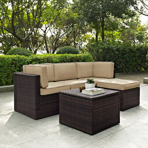 Belton 5 Piece Sectional Set with Cushions by Mercury Row