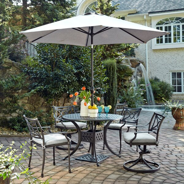 Flagg Cast Aluminum Outdoor 6 Piece Dining Set with Cushions by Darby Home Co