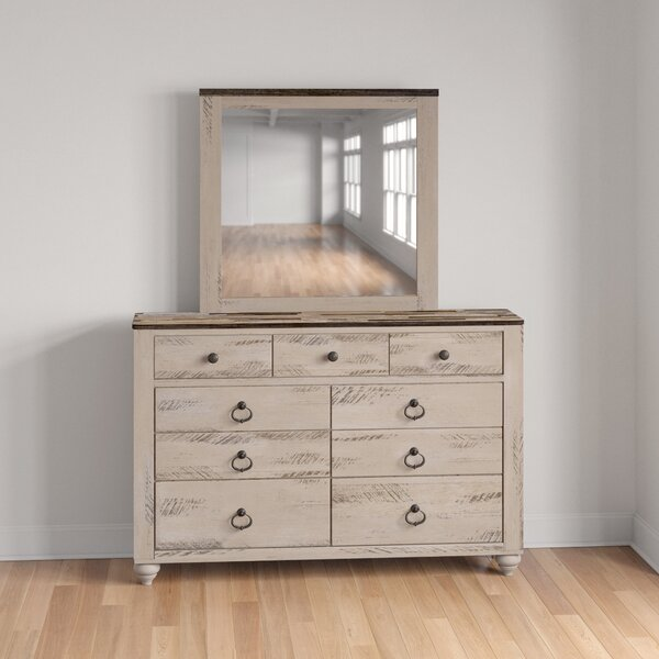Tavistock 9 Drawer Dresser With Mirror By Three Posts Teen by Three Posts Teen Great price