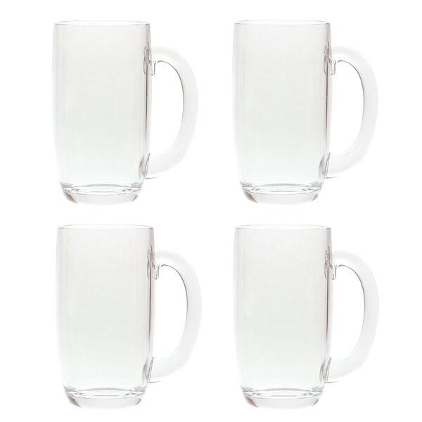 South Lamar 21 oz. Acrylic Plastic Drinking Beer Mug (Set of 4) by Latitude Run