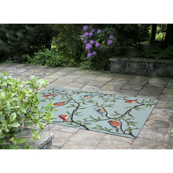 Haverstraw Hand-Tufted Blue Indoor/Outdoor Area Rug by Andover Mills