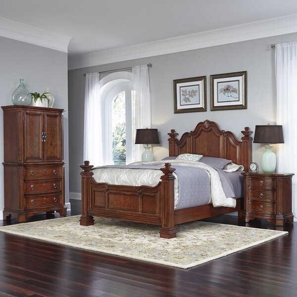 Santiago Platform 4 Piece Bedroom Set by Home Styles