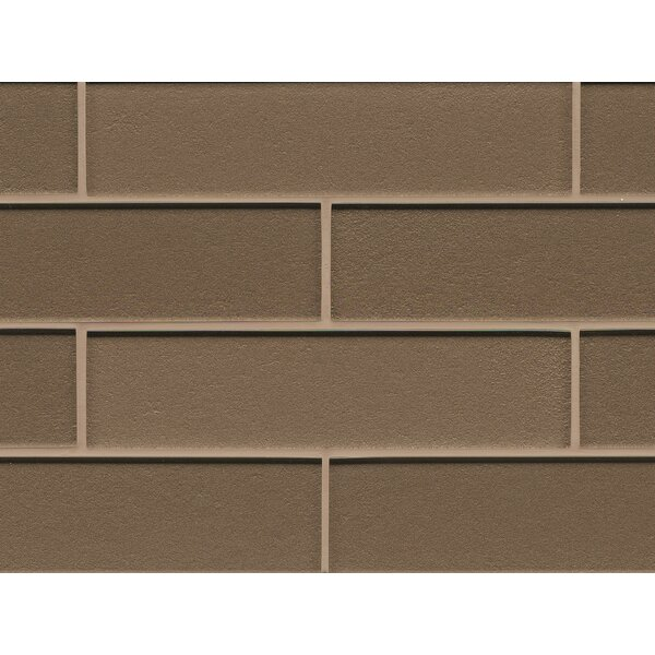 Remy Glass Mosaic Gloss Mesh Mounted Tile in Brown by Grayson Martin