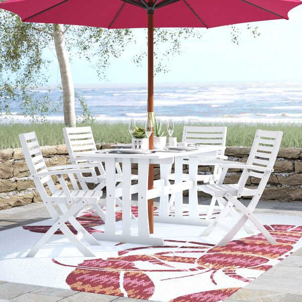 Bristol 5 Piece Patio Dining Set by Beachcrest Home