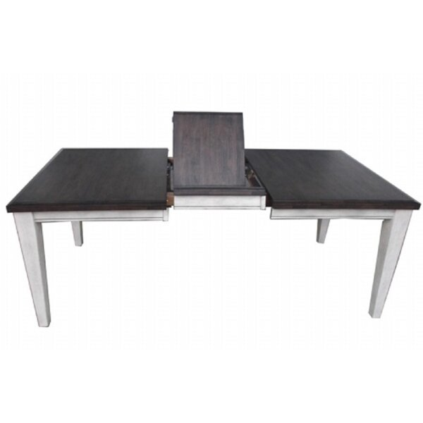 Leslie Extendable Solid Wood Dining Table by Ophelia & Co.