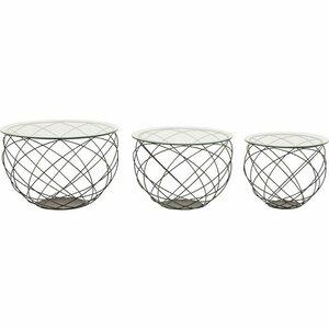 3-tlg. Couchtisch-Set Wire Grid von KARE Design