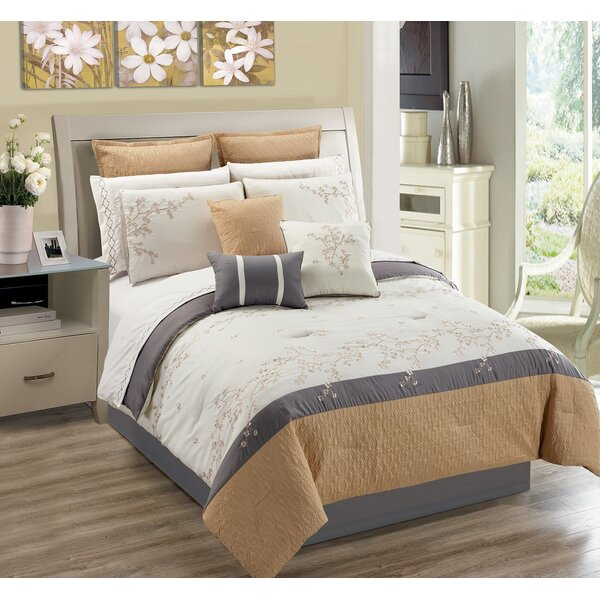 Greenmeadow Ivory 7 Piece Comforter Set by August Grove
