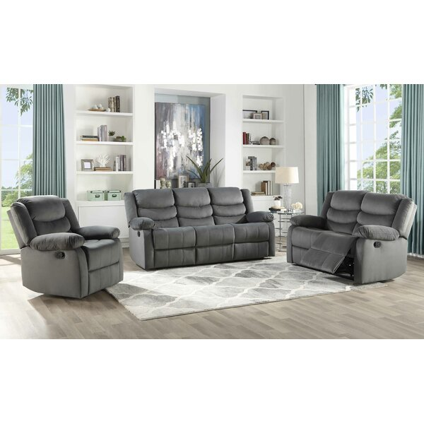 Act 3 Piece Suede Reclining Living Room Set by Winston Porter