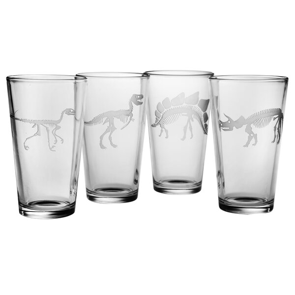 Jurassic Pint Glass by Susquehanna Glass