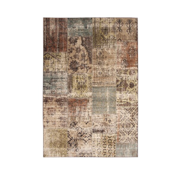 Glencoe Beige/Brown/Green/Light Blue Area Rug by Red Barrel Studio