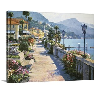 Bellagio Promenade by Howard Behrens Painting Print on Wrapped Canvas by Great Big Canvas