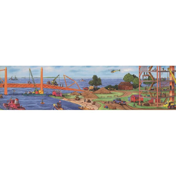 Jarboe Construction Project Wallpaper Border by Zoomie Kids