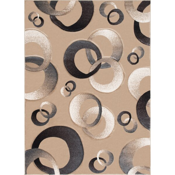 Circles Champagne Area Rug by AllStar Rugs