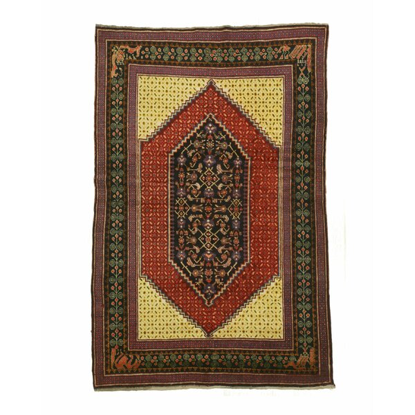 Kazak Hand-Knotted Rust Area Rug by Eastern Rugs