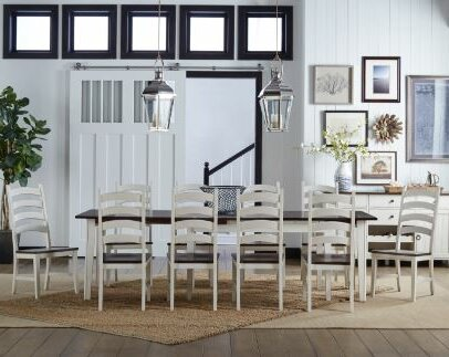 Tamiami 11 Piece Extendable Solid Wood Dining Set by Beachcrest Home