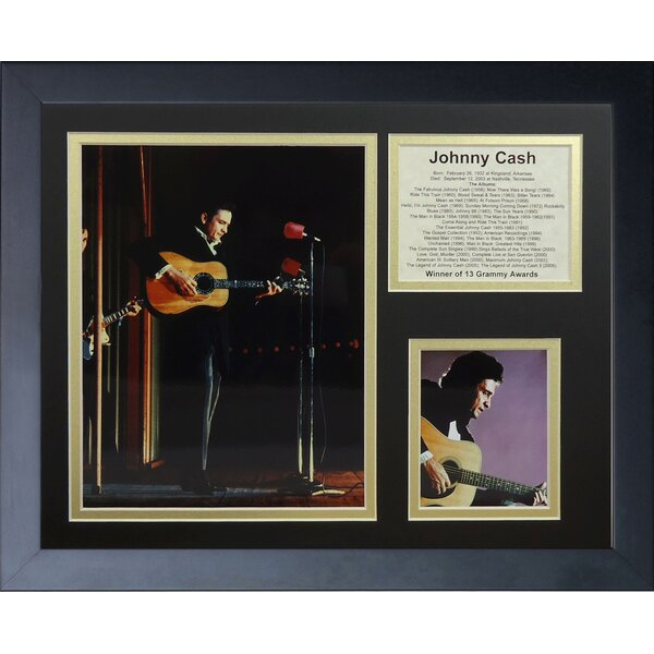Johnny Cash Collage Framed Photographic Print by Legends Never Die